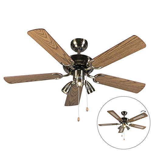 Mistral ceiling fan switch homedecoratingss qazqa modern ceiling fan with light mistral 42 bronze wood round aloadofball Gallery