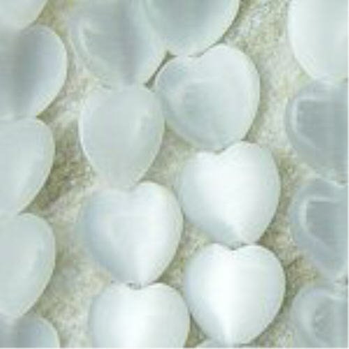 6mm Heart Shaped Cat's Eye Bead Strands Grade
