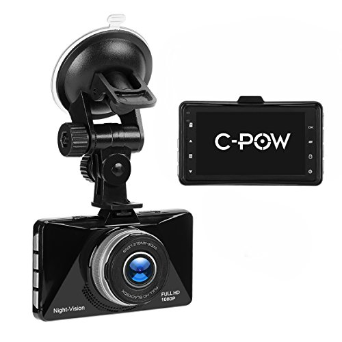 C Pow In Car Dash Cam Sony Lens 1080P Fhd Car Video Recorder 170 Wide Angle Wdr Camera With 3 Inch Lcd Motion Detection Parking Monitor And G Sensor