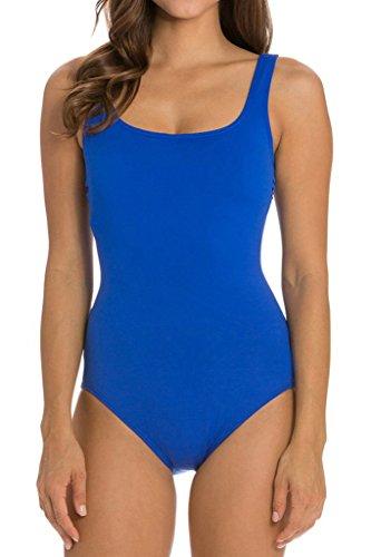 cokar Mujer Sport–Bañador deportivo–Traje Sport baño figurformend One Piece Swimsuit Azul