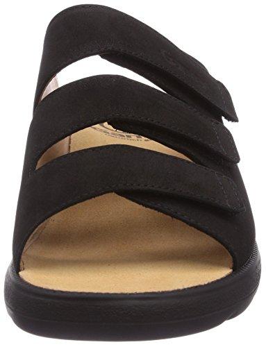 Ganter Selina, Weite F 3-202902-01000 - Zuecos de cuero nobuck para mujer, color negro, talla 36