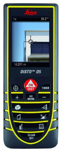 Leica Disto D5 Digital Laser Rangefinder with 2.4-inch Screen and 45-degree tilt Sensor (Discontinued by Manufacturer)