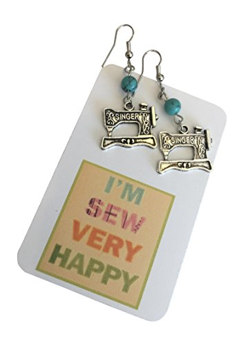 Love to Sew Singer Sewing Machine Earrings....Gift Packaged ~ Mothers Day Gift for -
