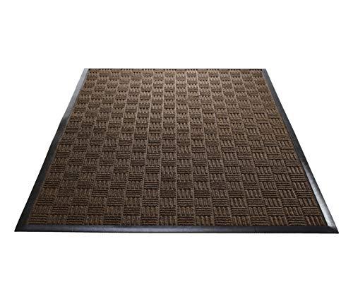(Guardian WGB030514 3' x 5' Indoor/Outdoor Wiper Scraper Floor Mat, Water Guard Brick Pattern, Rubber Reinforced Ridges Withstand High Traffic, Brown)