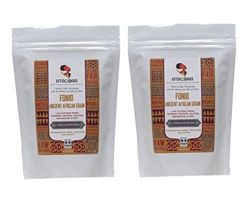 Atacora Fair Trade Raw Fonio Ancient African Grain (Gluten-Free), 16 Oz. (Pack of 2) by Atacora