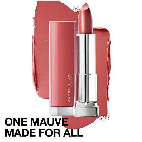 Maybelline New York Color Sensational Made for All Lipstick, Mauve For Me, Satin Mauve Lipstick, 0.15 Ounce