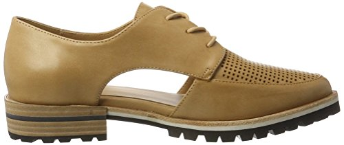 Aldo Camuno, Zapatos de Cordones Oxford para Mujer Marrón (38 Camel)