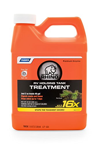 Camco 41513 Rhino Enzyme RV Holding Tank Treatment, 32 - Trailer Tank