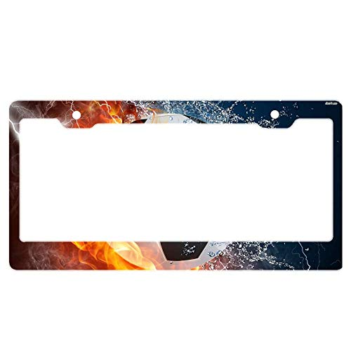 Made of Rust Resistant Aluminum Metal License Plate Frame for Women Men - Football HD Wallpapers