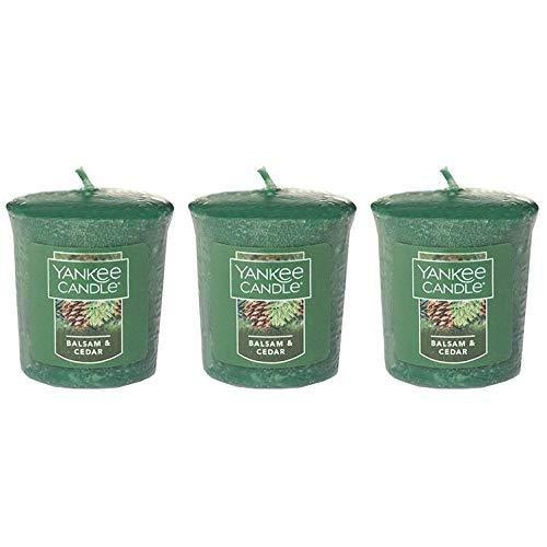 (Lot of 3 Yankee Candle BALSAM & CEDAR Sampler® Votive Candles 1.75 oz)