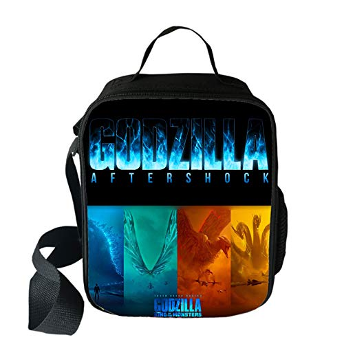 Little Monster Kaiju Godzilla Lunch Box With Padded Liner Insulated Lunch Bag Thermal Lunch Cooler Pack With Strap And Adjustable Shoulder]()