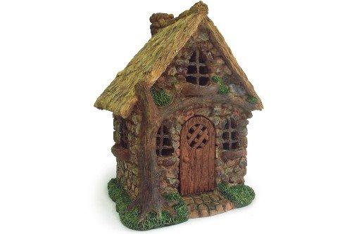 English Tree Cottage Miniature Fairy Garden Resin Figurine