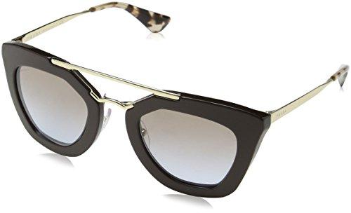 Prada Women's PR 09QS Sunglasses Brown / Light Blue Grad Light Brown - Sunglasses 49mm Prada