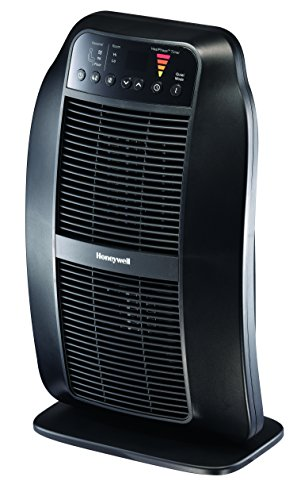 Honeywell HCE840B HeatGenius Ceramic Heater Black Energy Efficient 1500 Watt Custom Comfort with 6 Heat Settings, Quiet Mode & Auto-Off Heat Phase Timer for Home, School or Office ()
