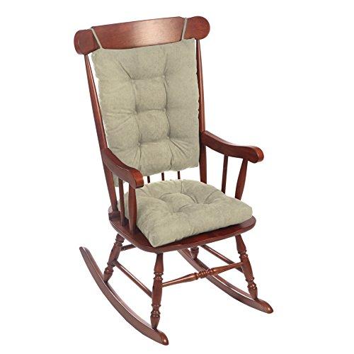 Klear Vu Twillo Jumbo No Slip Overstuffed Rocking Chairpad Set for Large Rockers, 17'' x 17'', Gray by Klear Vu