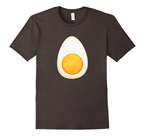Bacon And Egg Costume Diy (Mens Deviled Egg Fried Egg Halloween Costume T-shirt Large Asphalt)