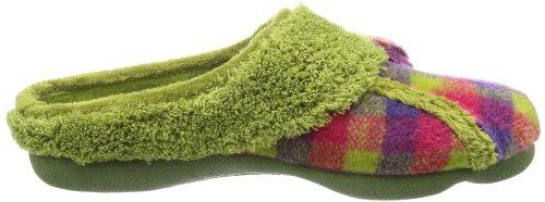Manitu Home 320339 Damen Pantoffeln Grün (Pistazie)