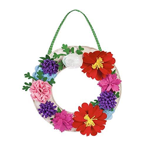 Evergreen Flag Floral Wreath Letter Perfect Felt Door ()