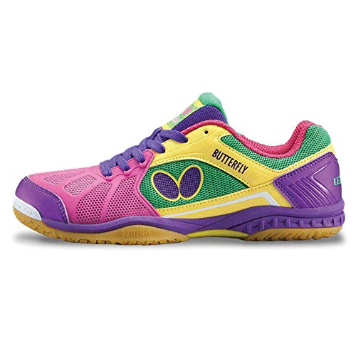 Butterfly Lezoline Rifones Table Tennis Shoes, Pink, Size 10.0
