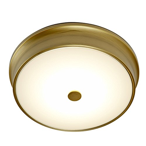 Led Light Fixture Too Bright: 11″ Abbey Frosted White Glass Bright LED Flush Mount