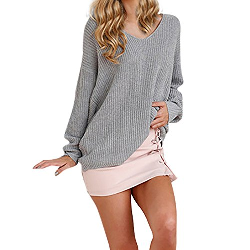 Dimanul Tops Womens Sweaters✿Oversized Sweaters,Knitted Sweater,Fall Sweaters Blouse Pullover Knit Sweater ()