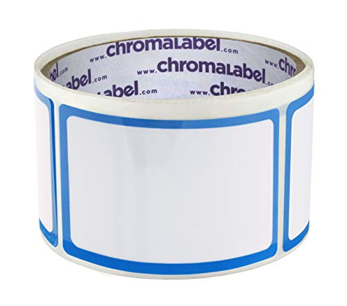 ChromaLabel 2 x 3 inch Dry Erase Labels | 50/Roll (With Protective Flap)