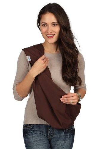HugaMonkey Soft Cotton Infant Wrap Carrier Brown Baby Sling – Medium Review