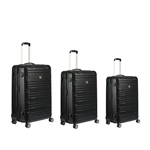 FUL ABFL5630-001 3 Piece Specialist Luggage Set, Spinner Rolling Suitcases with ABS Hard Cases - Black Ful Specialist Black 3-piece Expandable Hardside Spinner Luggage Set by Ful