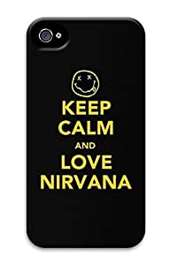 Keep Calm Love Nirvana Hard Case Cover Skin for iPhone 4 4S Kimberly Kurzendoerfer