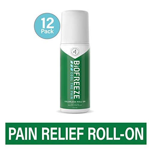 New Biofreeze Pain Relief Roll-On, 3 oz. Colorless Roll-On, Fast Acting, Long Lasting, & Powerful To...