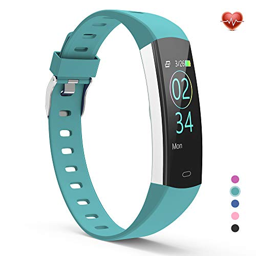 YoYoFit Slim Kids Fitness Tracker Heart Rate Monitor Watch, Kids Activity Tracker Waterproof Pedometer Watch, Digital Kids Alarm Clock Step Calorie Sleep Health Tracker as Best Fitness - Digital Clock 4.0