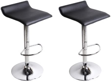 Fine Adeco Ch0022 1 Hydraulic Lift Chusioned Swivel Counter Barstool Black Vinyl Covered Adjustable Height Set Of 2 Chair Gmtry Best Dining Table And Chair Ideas Images Gmtryco