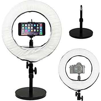 """Buy Prismatic 14"""" Mini Halo Ring Light with Weighted Light Stand"""