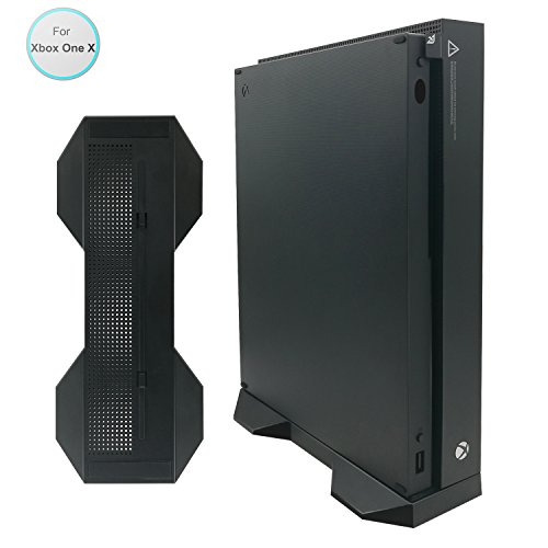 Vertical Stand for Xbox One X, FastSnail Xbox One X Stand with 2 Stand's Locks and 4 Non-slip Mats