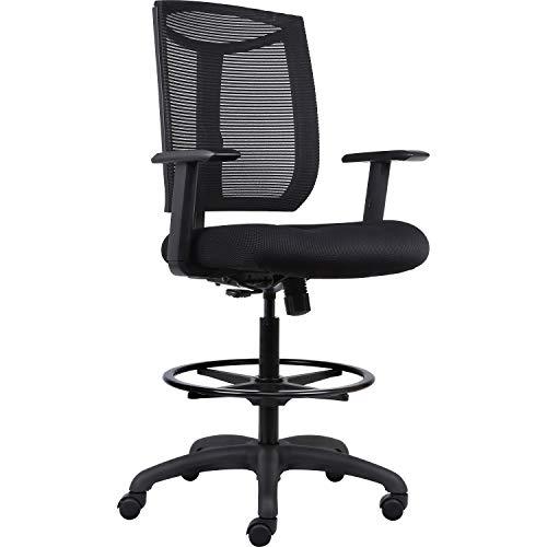 Lorell USA Seating Air Chair, 52.5″ x 25″ x 26″, Black