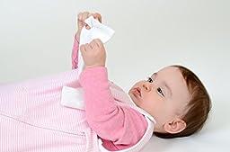 Bitta Kidda Baby Soother Sleeping Bag Wearable Blanket + Lovey - Pink Stripe 3M