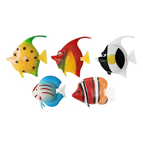 Foodie Puppies Glass Fish Bowl with Baby Plant Multi-Color Stone & Artificial Fish (Plain, 8inch)