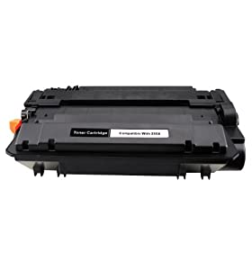 HIGH YIELD CE255X 55 255X 55X Black Laser Toner Cartridge Compatible with LaserJet P3010 Series, LaserJet P3015, LaserJet