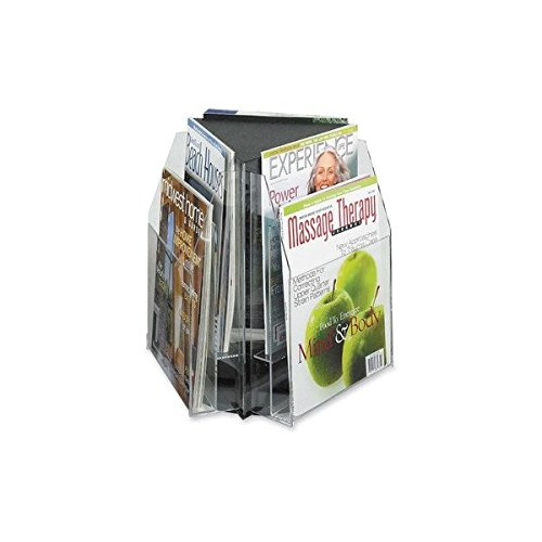 Safco Triangle Tabletop Display, f/ 9''W Magazines,15''x15''x14'', CL