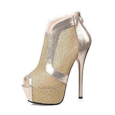 LvYuan Mujer-Tacón Stiletto-Zapatos del club Confort Innovador Gladiador-Sandalias-Boda Exterior Oficina y Trabajo Vestido Informal Deporte Black