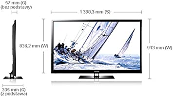 Samsung PS60E550 - Televisión plasma de 60 pulgadas Full HD, 3D (600 HZ), color negro: Amazon.es: Electrónica