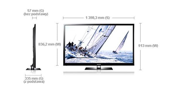 Samsung PS60E550 - Televisión plasma de 60 pulgadas Full HD, 3D (600 HZ), color negro: Amazon.es: Electrónica