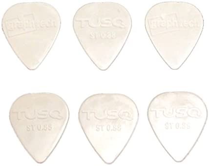 Genuine TUSQ Guitar Picks 0.88 mm Bright tone 6 pieces PQP-0088-W6 NEW!