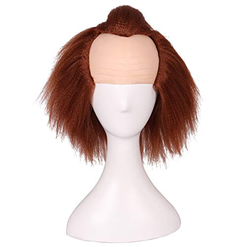 ColorGround Kids Size Brown Prestyled Bald Cosplay Wig for Halloween