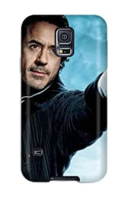 Cute Appearance Cover/tpu RRNUzkS1895dUqjr Robert Downey Jr In Sherlock Holmes 2 Case For Galaxy S5