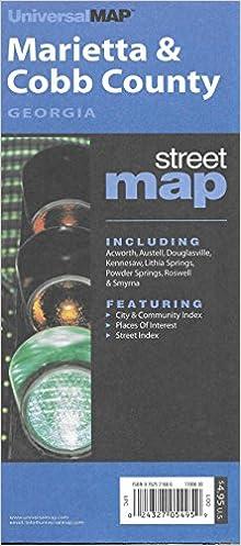 Marietta/Cobb County Ga570 (City & County Street Folding
