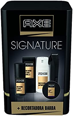 Axe Quattro Signature Pack Regalo Recortadora de Barba: Amazon.es ...