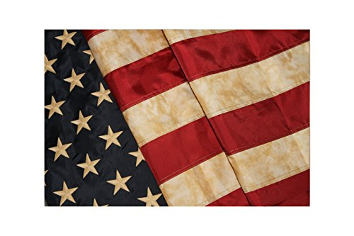 Embroidered Vintage American Flag - Premium Quality Nylon - 3'x5' w/ ()