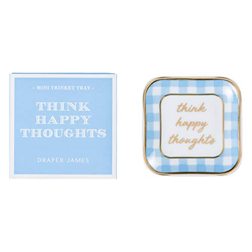 (Draper James Decorative Accent Mini Trinket Tray Think Happy Thoughts)