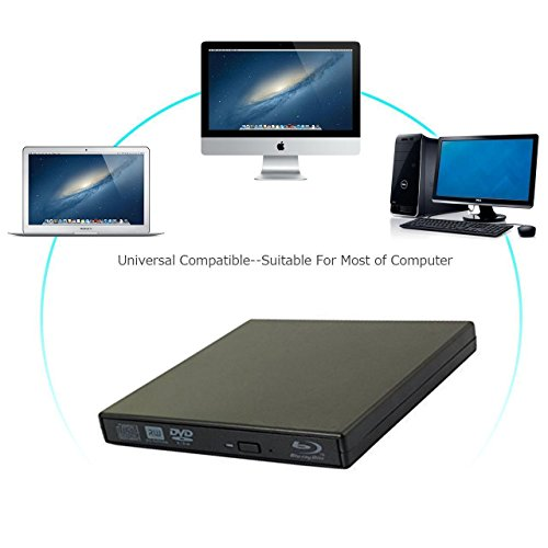Lvaen——External Blu-Ray Player External USB DVD RW Laptop Burner Drive,High speed, play blu-ray disc, CD,DVD,perfect support xp/win7/win8/win10/Linux system by Lvaen (Image #2)